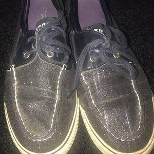 Black Sperry Top Sliders